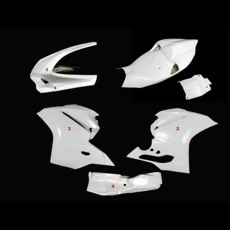 Carénage poly complet 6 parties racing fibre de verre 1299 Panigale