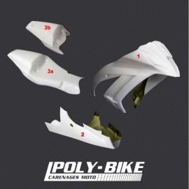 Carénage poly complet 3 parties fibre de verre ZX10R 2011-2015