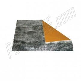 Feuille adhésive aluminium de protection thermique pare-chaleur 200x300 mm