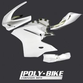 Carénage poly complet 6 parties sabot, selle origine fibre de verre 959 Panigale 2016-2018, 1299 Panigale 2015-2017