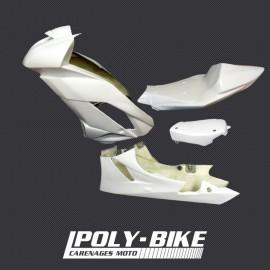 Carénage poly complet racing 3 parties fibre de verre ZX-6R 2009-2016