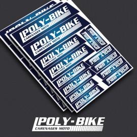 Planche d'autocollants poly-bike