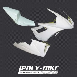 Carénage poly complet 3 parties racing fibre de verre 675 Daytona 2006-2012