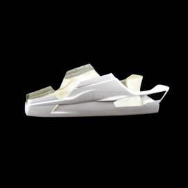 Sabot racing fibre de verre avec découpe pour béquille latérale 848, 1098, 1198